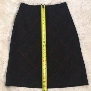 Loft Pencil Skirt w/ Red Diagonals. Beautiful!